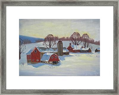 Fletcher Farm Framed Print by Len Stomski