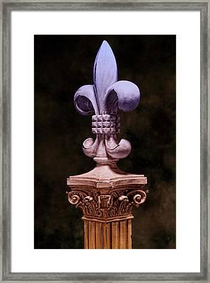 Fleur De Lis V Framed Print by Tom Mc Nemar