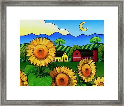Fleur Du Soleil Framed Print by Stacey Neumiller