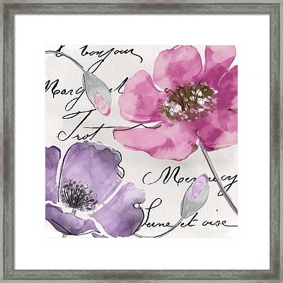 Fleurs De France IIi Framed Print by Mindy Sommers