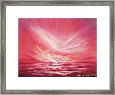 Flight At Sunset Framed Print by Gina De Gorna