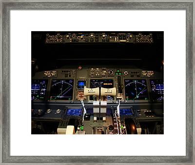 Flight Deck. Framed Print by Fernando Barozza