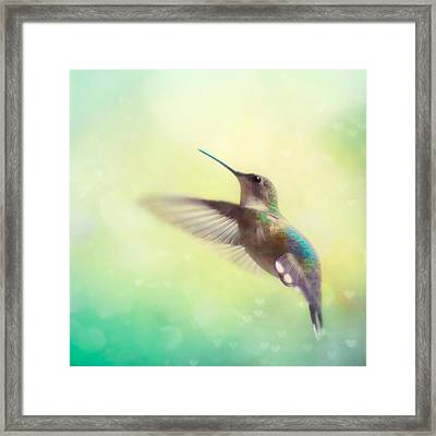 Flight Of Fancy - Square Version Framed Print by Amy Tyler