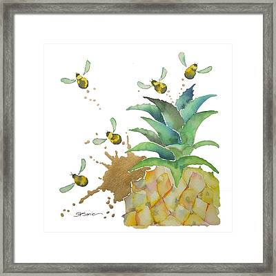 Flight Of The Bumblebee No19 Framed Print by Roleen Senic