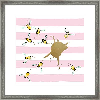 Flight Of The Bumblebeee No 21 Framed Print by Roleen Senic