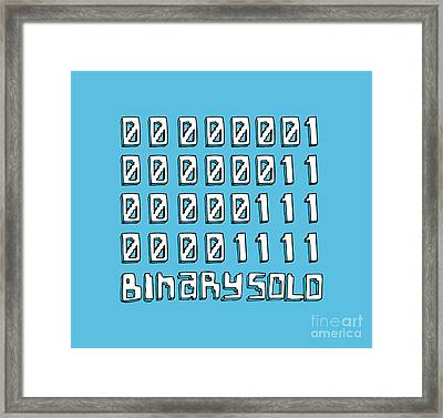 Flight Of The Conchords Binary Solo Robots Humans Are Dead Numbers Framed Print by Paul Telling