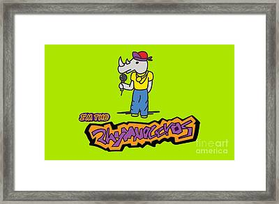 Flight Of The Conchords The Hiphopopotamus And The Rhymenoceros The Rhymenoceros Version 1 Framed Print by Paul Telling