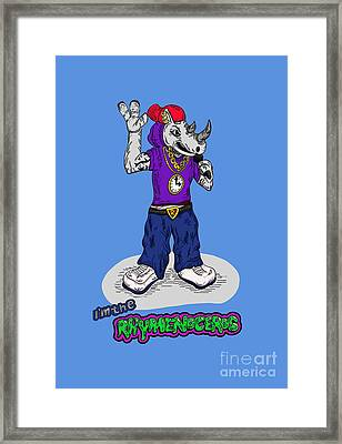 Flight Of The Conchords The Hiphopopotamus And The Rhymenoceros The Rhymenoceros Version 2 Framed Print by Paul Telling
