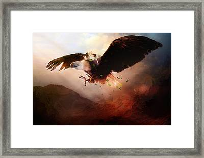 Flight Of The Eagle Framed Print by Mary Hood