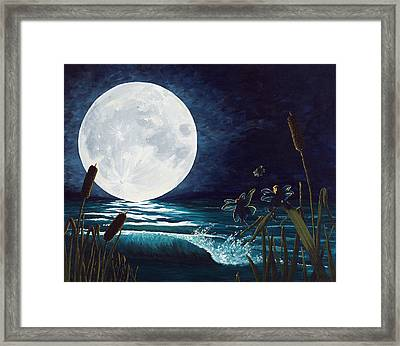 Flight Of The Moon Faries Framed Print by Deborah Ellingwood