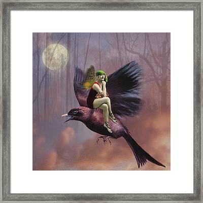Flight Framed Print by Olga Snell