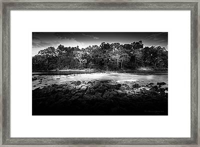 Flint River Rapids B/w Framed Print by Marvin Spates