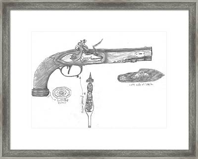 Flintlock Circa 1800 Framed Print by Kevin Callahan