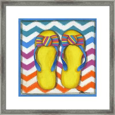 Flip Flops 2 Framed Print by Debbie Brown