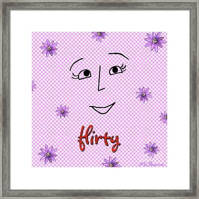 Flirty Framed Print by Methune Hively