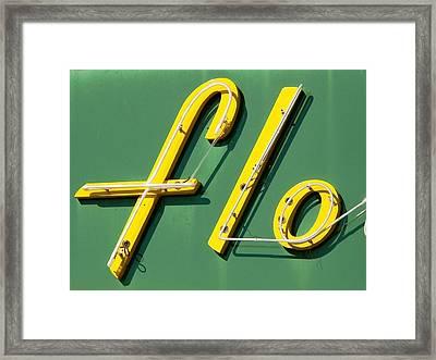 Flo Framed Print by David Gianfredi