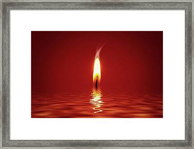 Floating Candlelight Framed Print by Wim Lanclus