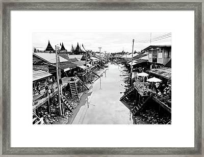Floating Market In Thailand Framed Print by Sarayut Mathavetchathum