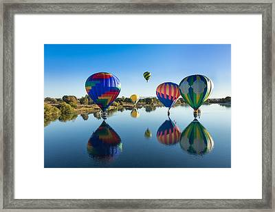 Floating On Air And Water Framed Print by Mary Jo Allen