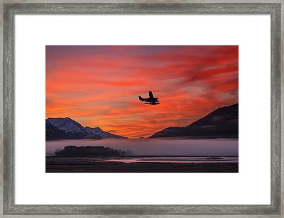Floatplane Takes Off From Juneau Framed Print by John Hyde