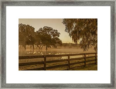 Flooded Pasture Framed Print by Capt Gerry Hare