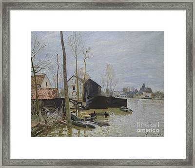 Flooding At Moret Framed Print by MotionAge Designs
