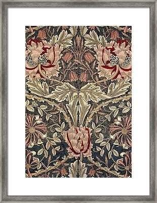 Flora And Foliage Design Framed Print by William Morris