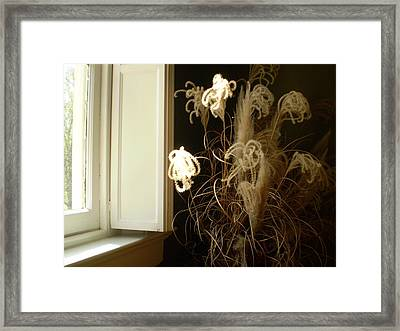 Floral Arrangement At Riverview Framed Print by Utopia Concepts