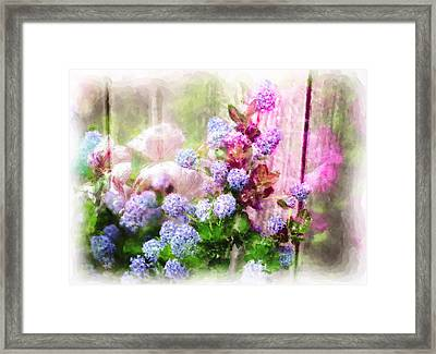 Floral Merge 11 Framed Print by Artzmakerz