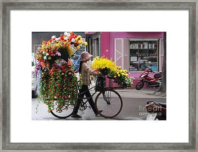 Floral Ride Framed Print by Marion Galt