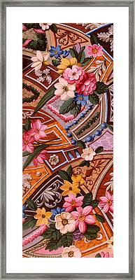 Floral Textile Design Framed Print by William Kilburn