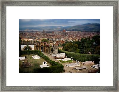 Florence Cemetery Framed Print by Chuck Parsons