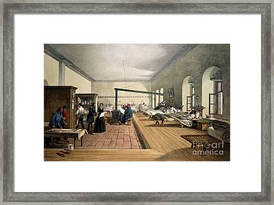 Florence Nightingale At Scutari Framed Print by Wellcome Images