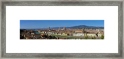 Florence Panorama Framed Print by Kenton Smith