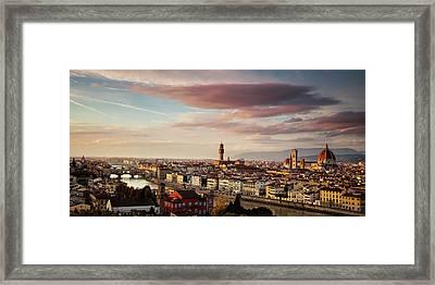 Florence Skyline Framed Print by Andrew Soundarajan
