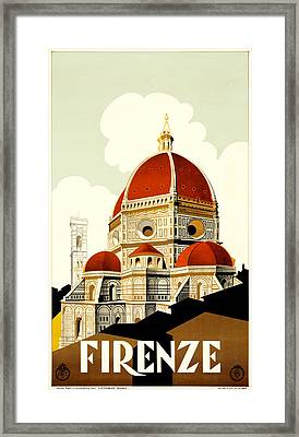 Florence Travel Poster Framed Print by Italian School