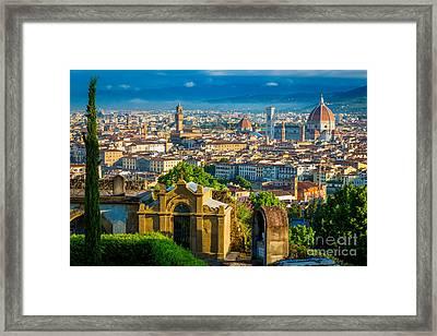 Florentine Vista Framed Print by Inge Johnsson