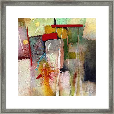 Florid Dream - Green Framed Print by Hailey E Herrera