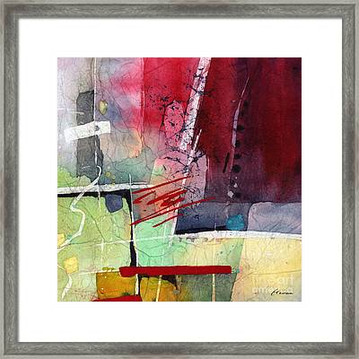 Florid Dream - Red Framed Print by Hailey E Herrera