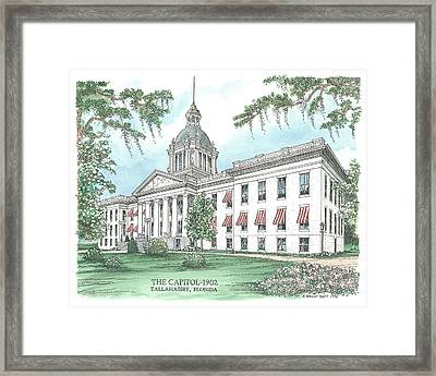 Florida Capitol 1902 Framed Print by Audrey Peaty