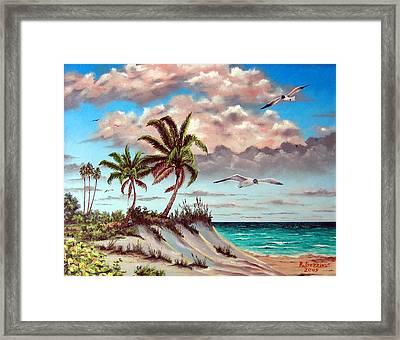 Florida Gulf Dune Framed Print by Riley Geddings