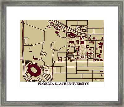 Florida State  University Campus  Framed Print by Spencer Hall