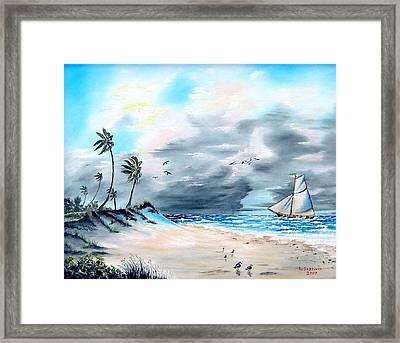 Florida Tempest Framed Print by Riley Geddings