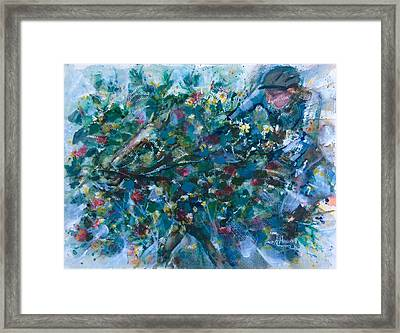 Flow Away Framed Print by Laila Awad Jamaleldin