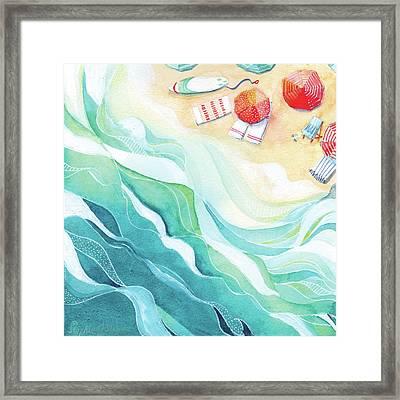 Flow Framed Print by Stephie Jones