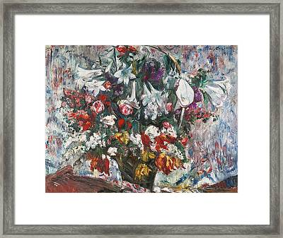 Flower Basket With Amaryllis Framed Print by MotionAge Designs