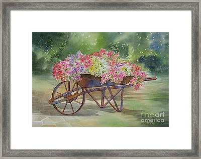 Flower Cart Framed Print by Deborah Ronglien