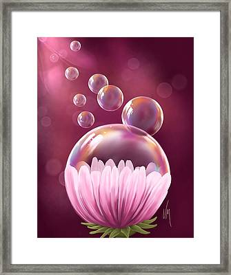 Flower Cup Framed Print by Veronica Minozzi