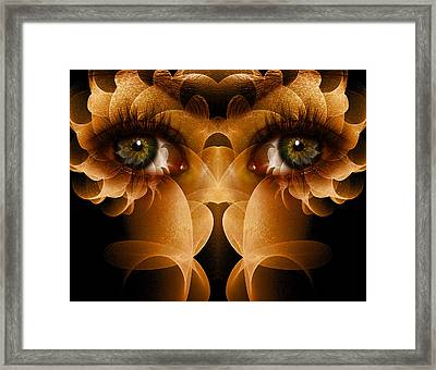Flower Face Framed Print by Bear Welch