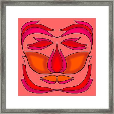 Flower Face Framed Print by Pratyasha Nithin